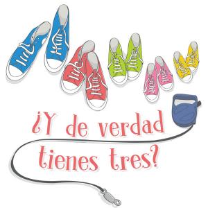 Avatar del blog ¿Y de verdad tienes tres? Se trata de cinco pares de zapatillas estilo botas Converse y la correa de un perro